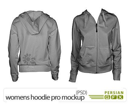 دانلود پیش نمایش تی شرت زنانه - womens hoodie pro mockup