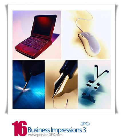 دانلود تصاویر ماوس، لب تاپ، پول، ساعت و خودنویس - Business Impressions 03