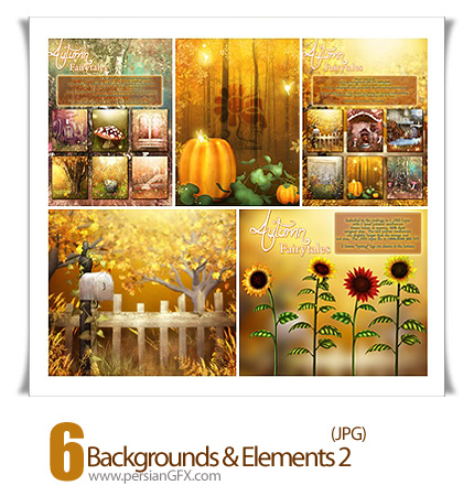 دانلود تصاویر پس زمینه پاییز - Backgrounds & Elements Autumn Fairytales 02