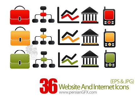 دانلود آیکون های وب سایت - Website And Internet Icons In Vector Format