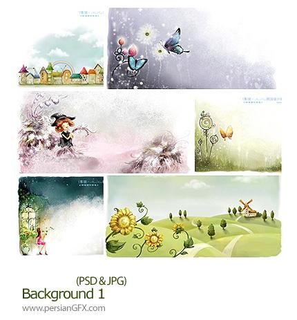 دانلود تصاویر لایه باز پس زمینه - Background 01