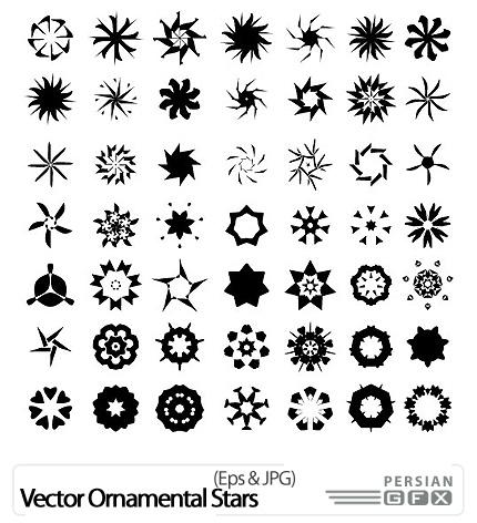 تاتو ستاره هشت پر دانلود تصاویر وکتور ستاره تزئینی - Vector Ornamental Stars ...