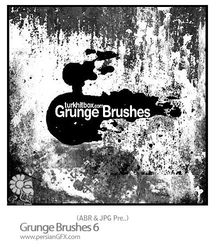 براش کثیف، بافت شماره پنج - Grunge Brushes 06