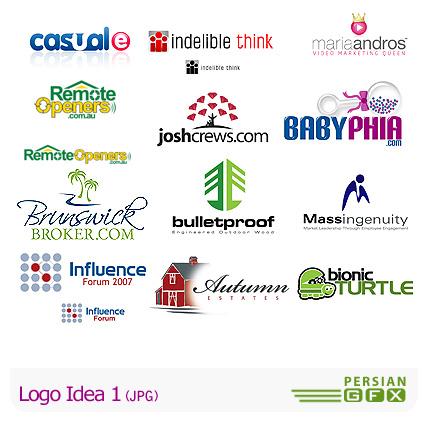 دانلودمجموعه تصاویر آرشیو ایده لوگو - Logo Idea 01