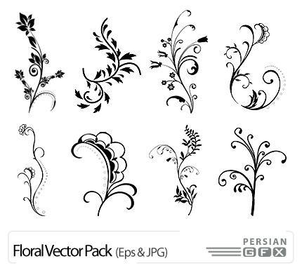 نقاشی حاشیه گل دانلود تصاویر وکتور گل تزئینی سیاه و سفید - Floral Vector ...