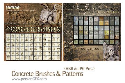 دانلود براش ایجاد بافت کثیف سنگ و دیوار - Concrete Brushes & Patterns
