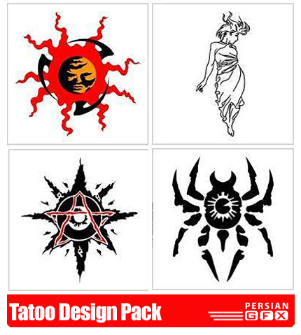 دانلود کلیپ آرت خالکوبی - Tatoo Design Pack