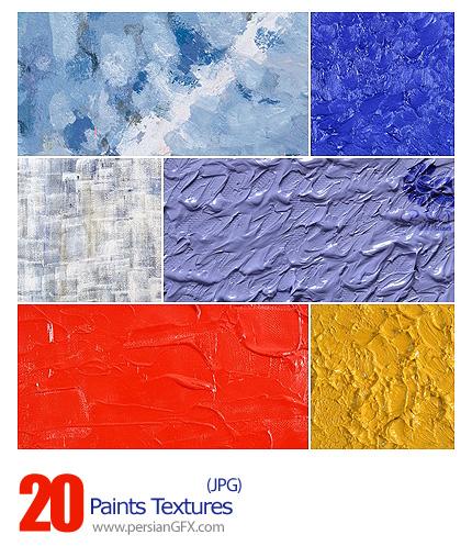 دانلود تصاویر تکسچر یا بافت رنگ و روغن - Paints Textures