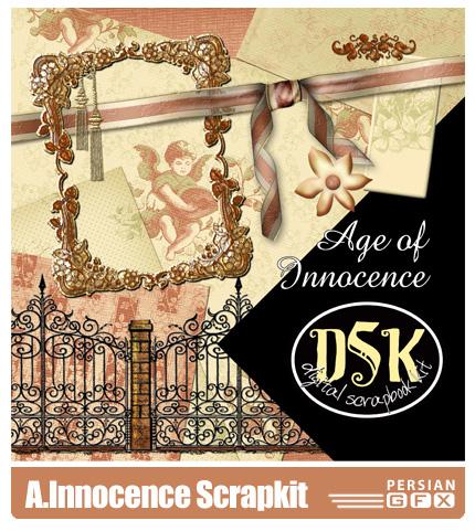دانلود کلیپ آرت تزئینی - Age Of Innocence Scrapkit