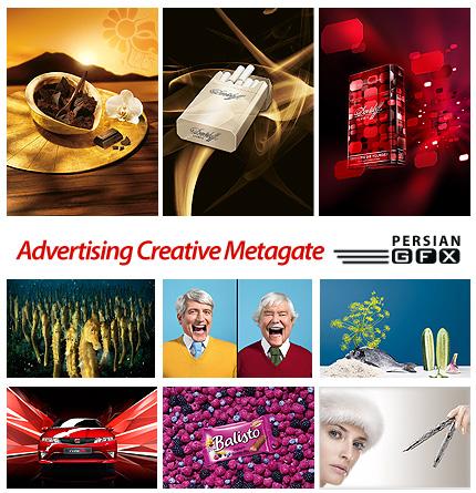 دانلود تصاویر تبلیغاتی خلاقانه - Advertising Creative by Metagate Studio