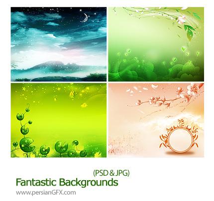 دانلود تصاویر لایه باز رویایی مناسب برای فن های دیجیتال عروس و داماد و بک گراند چهار فصل - Fantastic Backgrounds