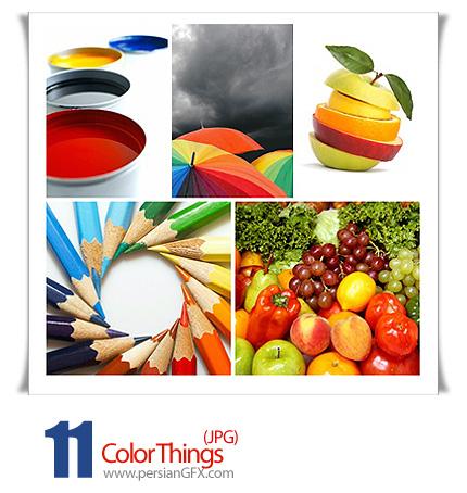 دانلود تصاویر رنگ های متنوع - Color Things