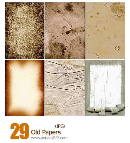 دانلود بافت کاغذ قدیمی - Old Papers