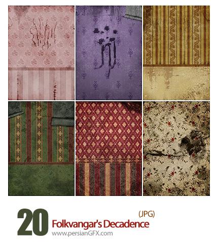 دانلود بافت کاغذ گلدار قدیمی - Folkvangar's Decadence HQ Textures