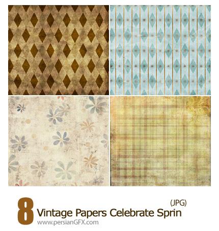دانلود بافت کاغذ گلدار قدیمی - Vintage Papers Celebrate Sprin