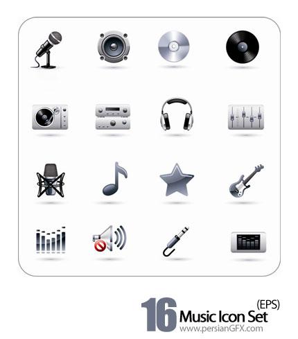 دانلود آیکون های موسیقی - Music Icon Set