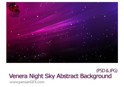 دانلود تصاویر لایه باز آسمان ستاره دار شب - Venera Night Sky Abstract Background
