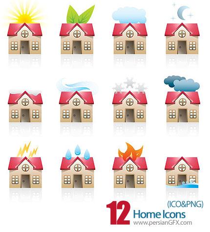 دانلود آیکون های خانه  - Home Icons