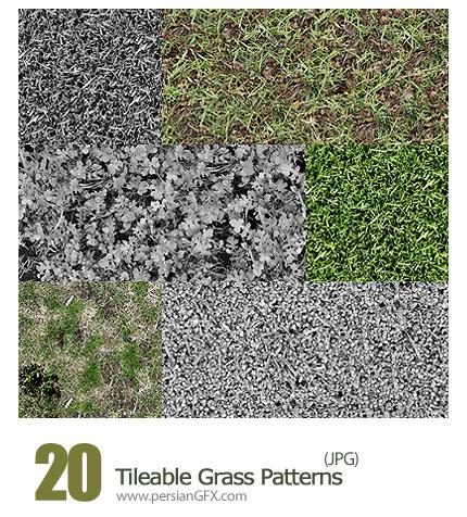 دانلود تصاویر پترن چمن - 10 Tileable Grass Patterns