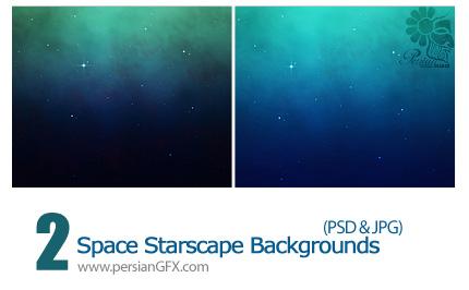 دانلود تصاویر لایه باز پس زمینه فضایی ستاره دار - Space Star scape Backgrounds