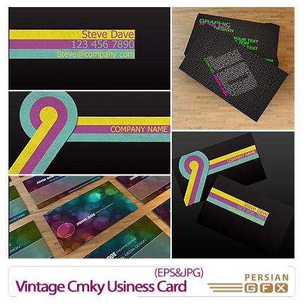 دانلود کارت ویزیت تجاری - Vintage Cmky Usiness Card