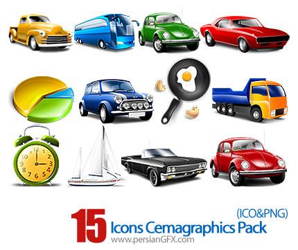 دانلود آیکون های متنوع گرافیکی  - Icons Cemagraphics Pack