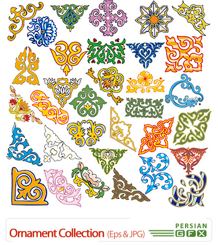 دانلود وکتورهای اسلامی تزئینی، گوشه و کادر - Ornament Collection