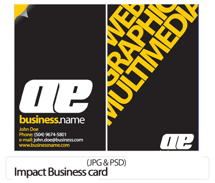 دانلود کارت ویزیت تجاری - Impact Business card
