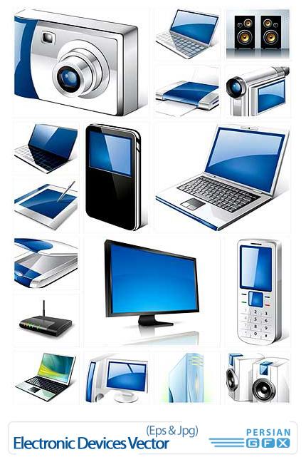 دانلود تصاویر وکتورهای دستگاه های الکترونیکی - Electronic Devices Vector