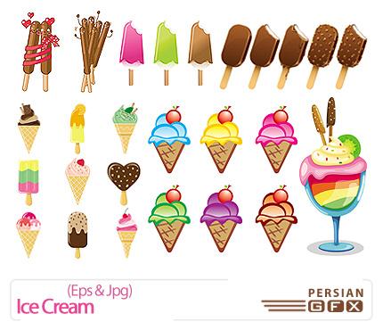 دانلود تصاویر وکتور بستنی - Ice Cream