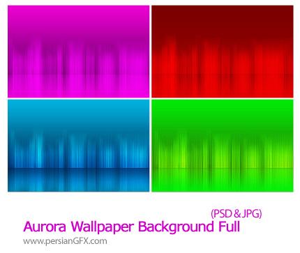 دانلود تصاویر لایه باز پس زمینه رنگی - Aurora Wallpaper Background Full