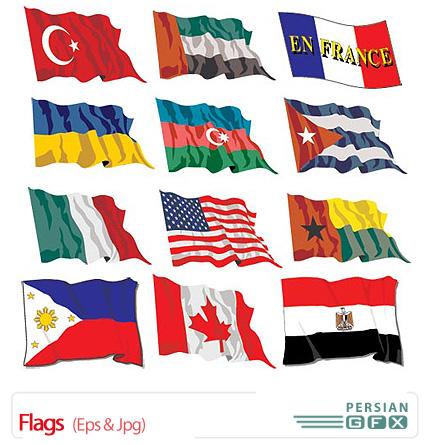 دانلود تصاویر وکتور پرچم کشورها - Flags