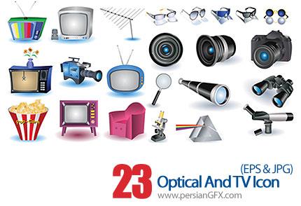 دانلود آیکون های نوری و تلویزیونی - Optical And TV Icon