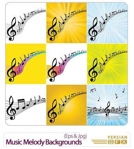 دانلود تصاویر وکتور ملودی - Music Melody Backgrounds