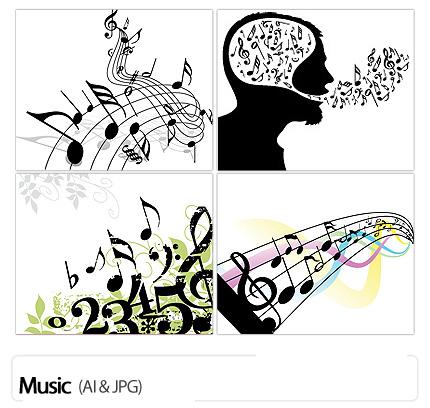 تصاویر وکتورموسیقی  - Music Vectors