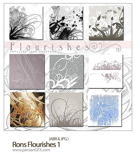 دانلود براش گل های پیچک - Rons Flourishes 01