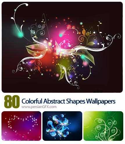 دانلود تصاویر والپیپر اشکال رنگی - 80 Colorful Abstract Shapes Wallpapers