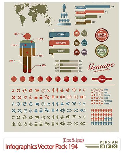 دانلود تصاویر وکتور اطلاعات گرافیکی - Infographics Vector Pack 194