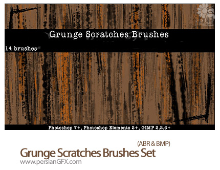 دانلود براش خش - Grunge Scratches Brushes Set