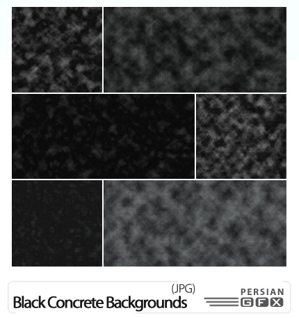 دانلود بافت پس زمینه گرانج سیاه بتن - GraphicRiver 15 Black Grunge Concrete Backgrounds