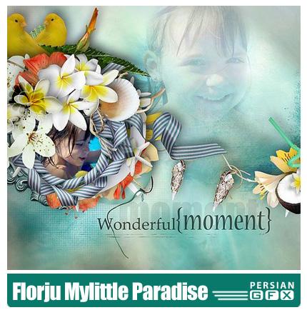 دانلود کلیپ آرت تصاویر گل های متنوع و رنگارنگ - Florju Mylittle Paradise