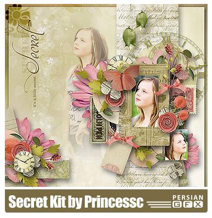 دانلود کلیپ آرت تصاویر قاب عکس کودکان - Secret Kit by Princess