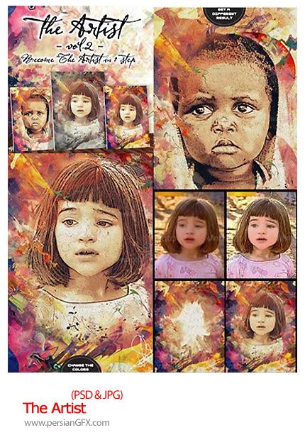 دانلود تصاویر لایه باز تبدیل عکس به نقاشی - The Artist 1