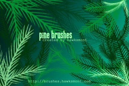 مجموعه براش های درخت کاج - Pine Brushes