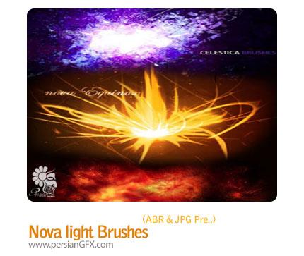 مجموعه براش های افکت انفجار نور - nova light line brushes
