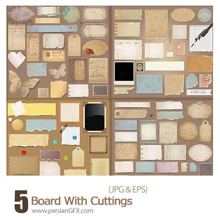دانلود وکتور فریم های کاغذی متنوع - Board With Cuttings