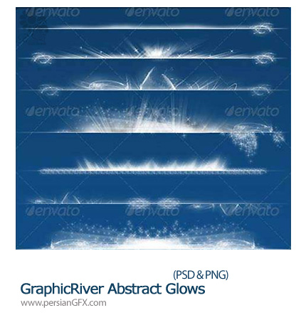 دانلود تصاویر لایه باز نورهای درخشان- Abstract Glows