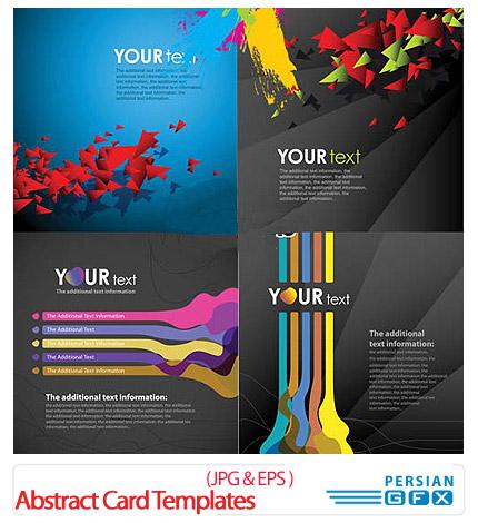 دانلود کارت ویزیت بازرگانی مدرن - Abstract Card Templates