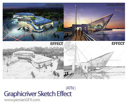 دانلود اکشن تبدیل عکس به طرح اولیه گرافیک ریور - Graphic River Sketch Effect