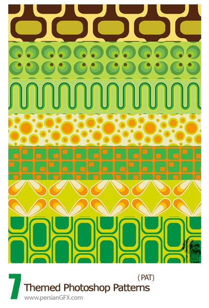 مجموعه پترن های فانتزی با طرح های متنوع - Groovy 70s Themed Photoshop Patterns